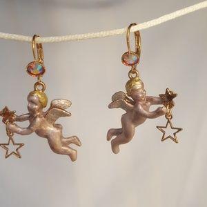 Kirks Folly Cherub earrings
